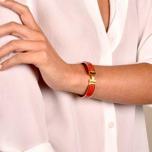 Hermes Red Gold Clic Clac H Bracelet PM